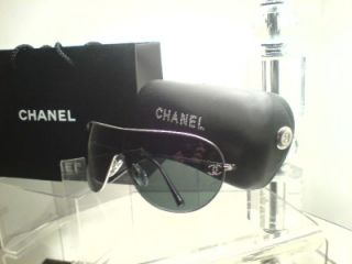 CHANEL Ladies Designer Aviator Sunglasses Oversized With Case & Bag