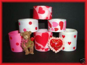 12Yd Valentine Full of Heart MTMG Grosgrain Ribbon Mix