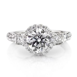 95ct Antique European Round Cut Diamond Engagement Ring and