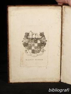1731 John Bickham Fables Short Poems Fine Engravings Art of Writing