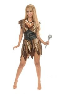 Cave Woman Girl Jungle Caveman Animal Dress Up Sexy Halloween Adult