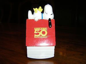 PEANUTS SNOOPY WOODSTOCK 50th CELEBRATION FIGURINE CHARLES SCHULZ