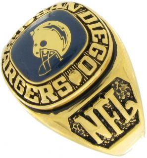 Balfour Ring Football NFL Team San Diego Chargers Sz 7 5