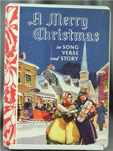 Vintage Sheet Music Merry Christmas Song Verse Story