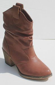 Charles Albert Ladies Womens Western Style Cowboy Ankle Boots Size 6