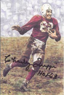 Charley Trippi Autographed Signed Chicago Cardinals Goal Line Art