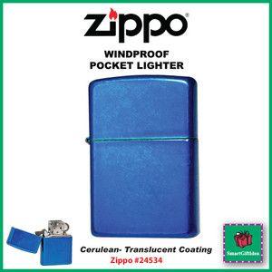 Cerulean Blue Genuine Windproof Zippo Lighter 24534