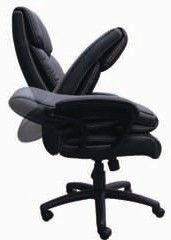 New Black Italian Leather Executive Office Desk Chairs