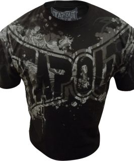 New Mens Tapout UFC MMA Just Another Day Cage Fighter T Shirt Black
