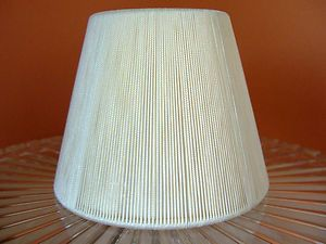 Pleated Gold Chandelier or Lamp Shade Clip on New