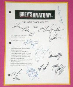 Greys Anatomy Script Pilot rpt 11x Patrick Dempsey Katherine Heigl