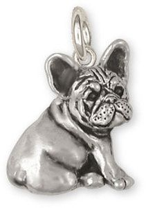 Sterling Silver French Bulldog Charm Jewelry FR23 C