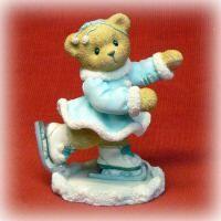Cherished Teddies Shannon Bear Figurine Enesco Skating