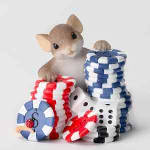Charming Tails Im Betting On You, Poker Chip Chips Mouse Dice Mice