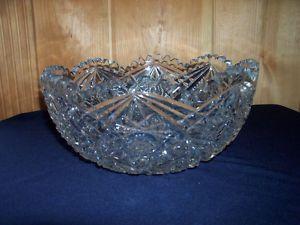 Antique abp Cut Glass Unsigned Bowl 8 Unknown Maker