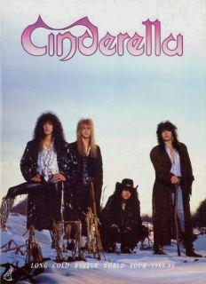 Cinderella 1988 Long Cold Winter Tour Concert Program Book
