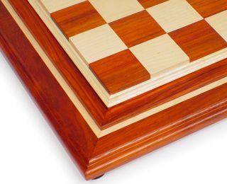 African Paduak & Maple Solid Wood Chess Board   2.25 Squares
