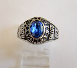 Womans Blue Stone Central Valley Falcons 2003 Class Ring