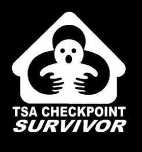TSA Checkpoint Survivor Decal Sticker Car Truck Funny