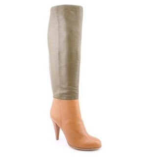 Charles David Powerful Womens Size 7 Brown Leather Fashion   Knee High