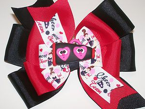 New Miss M2MG Cheerleader Megaphone Custom OOAK Boutique Hair Bow x