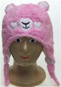 Baby/Toddler Bear w/Heart Cheeks Ear Flap Winter Hat Beanie,Cap,# 276