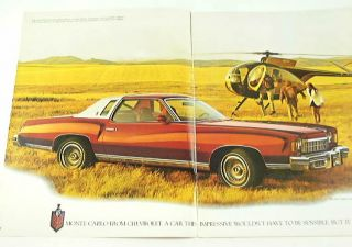 11 pages of photos and information on the 75 monte carlo the brochure