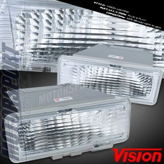 Vision 95 97 Chevy S10 GMC S15 Chrome Turn Signal Side Marker Lights