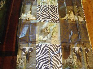 ANIMAL PRINT ZEBRA LEOPARD TROPICAL JUNGLE SAFARI PEVA SHOWER CURTAIN