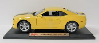 2010 Chevrolet Camaro SS RS Diecast Model Car Maisto 1 18 Scale Yellow