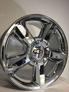 20 inch Chrome Chevrolet Tahoe LTZ Wheels Suburban Avalanche Silverado
