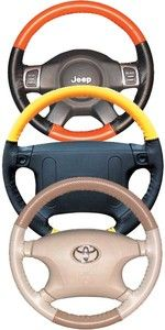 Chevy Perforated Custom Fit 1 or 2 Color Leather Steering Wheel Cover