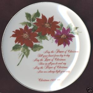 Chiara Porcelain Christmas Plate American Watercolor