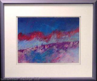 Mark Dickson Original Pastel Drawing Framed Signed Abstract Art Make