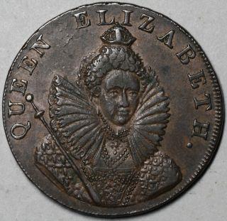 1794 Queen Elizabeth I Chichester Cross Conder 1 2 Penny Token Sussex