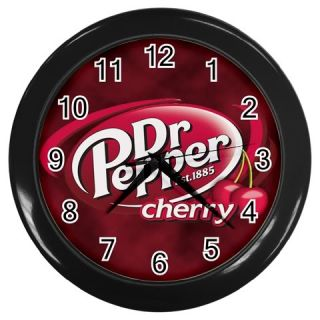 New Hot Red Cloud Dr Pepper Cherry Wall Clock Black