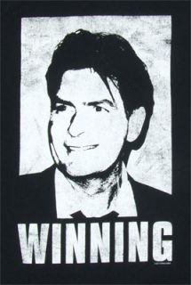 product this t shirt features charlie sheen and says winning