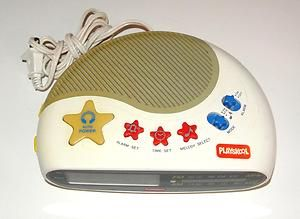 Vintage Childrens Playskool Melody Alarm Clock Radio Digital Am FM