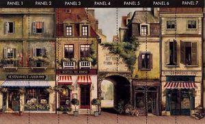 French LA RUE DE PARIS STREET 9x15 feet Wallpaper Wall Decor Mural