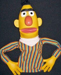 Vintage Sesame Street Bert Puppet 1973 Bert Ernie Jim Hensons Muppets