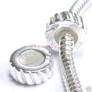 Str Silver Stopper Rubber for European Charm Bracelets