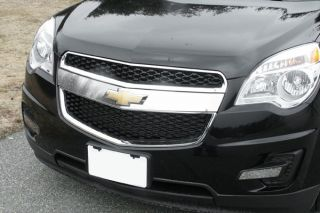 New 10 13 Chevy Equinox Front Grille Surround Mirror Polished Truck