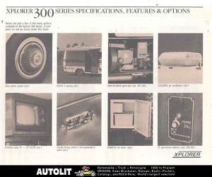 1984 Xplorer 300 Series Chevrolet motorhome RV Brochure