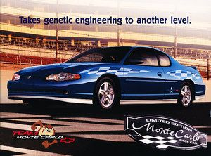 2003 Chevrolet Monte Carlo SS Pace Race Car Brochure Fact Sheet