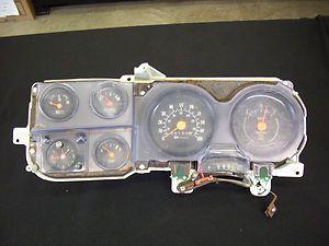 78 ~ 87 Chevy GMC Truck Blazer Jimmy Suburban Instrument Gauge Cluster