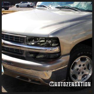 4PC] 99 02 Silverado/00 06 Tahoe Suburban Smoke Headlights & Bumper