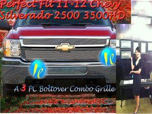 11 12 2012 2011 Chevy Silverado 2500HD 3500HD Billet Grille Combo