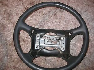 Chevrolet Chevy GMC s 10 Suburban Gray Leather Steering Wheel 1996
