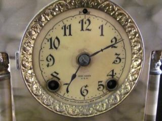 New Haven Cast Iron Mantel Shelf Clock Charlemont Parts Repair