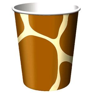 Animal Print Party Supplies Giraffe Hot Cold Cups